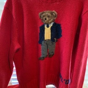 Vintage Polo Bear Sweater size large